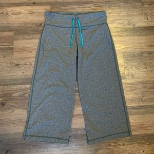 Lululemon Gray Extend Crop Wide Leg